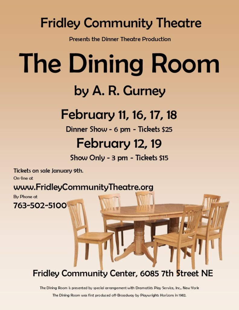 welcome to fct fridley community theatre